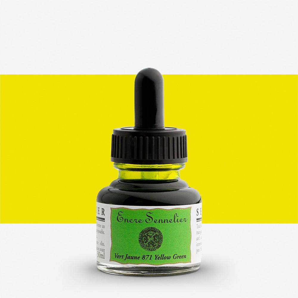 Sennelier : Ink : 30ml : Yellowish Green