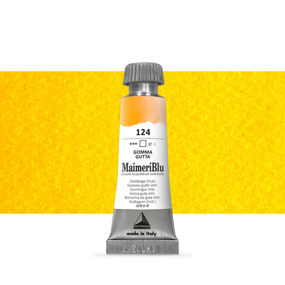 MaimeriBlu : Watercolour Paint : 12ml : Gamboge (Hue)