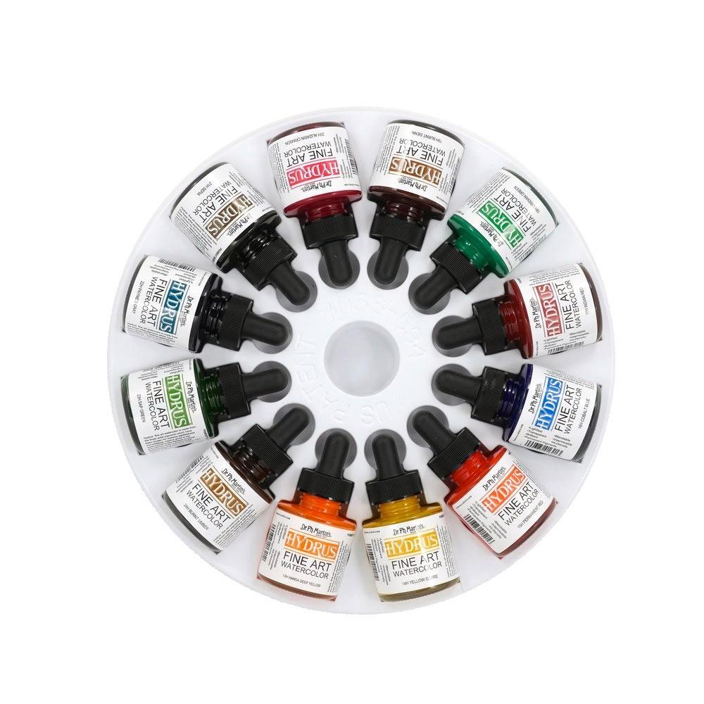 Dr. Ph. Martin's : Hydrus Liquid Watercolour Paint : 30mlx12 : Set 3 (25H : 36H)