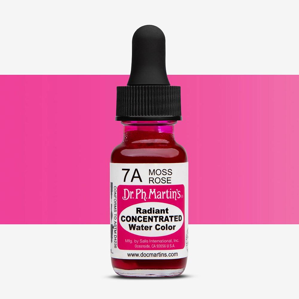 Dr. Ph. Martin's : Radiant Watercolour Paint Dye : 15ml : Moss Rose