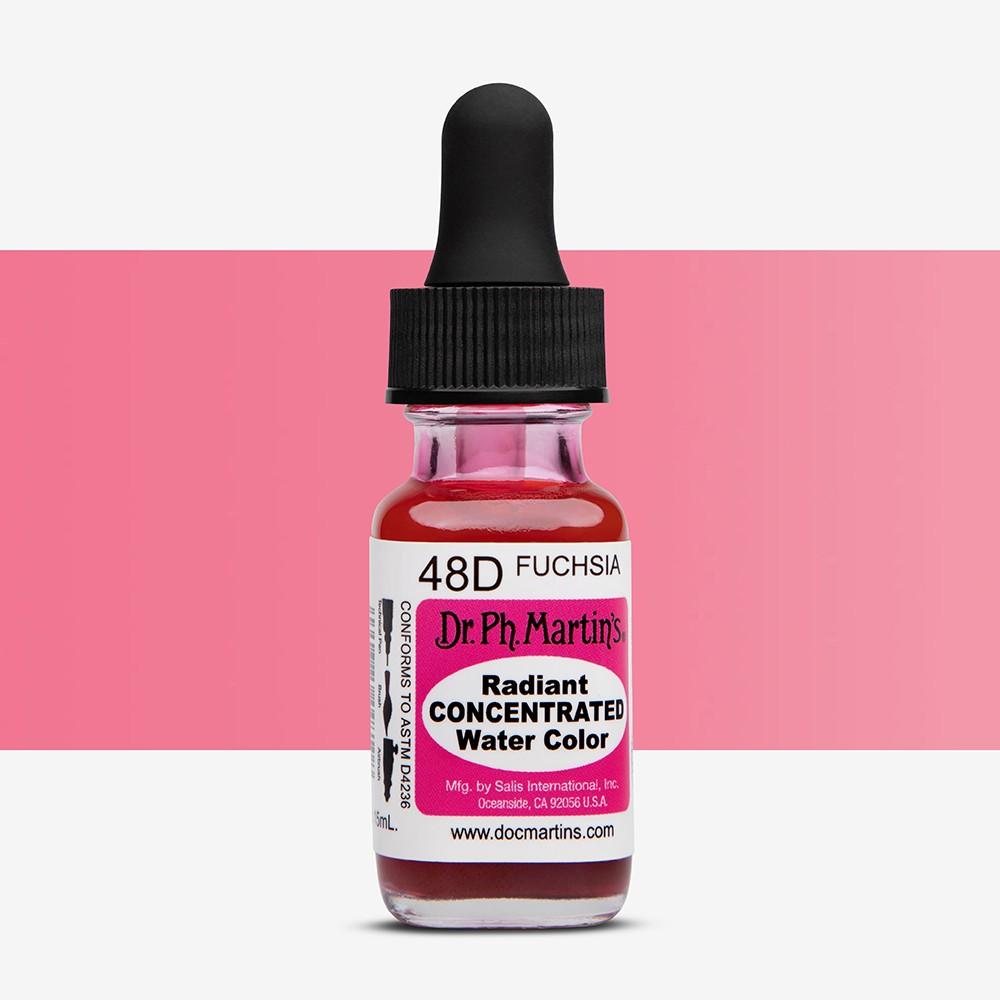 Dr. Ph. Martin's : Radiant Watercolour Paint Dye : 15ml : Fuchsia