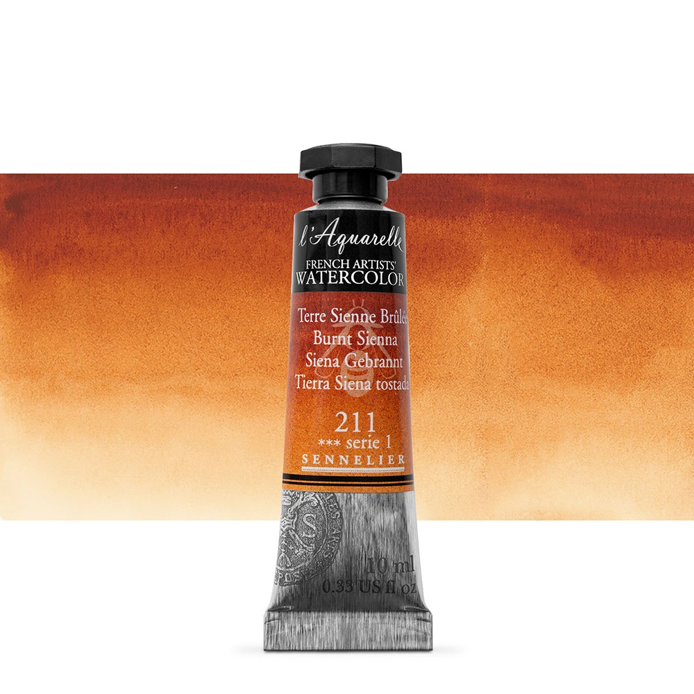 Sennelier : Watercolour Paint : 10ml : Burnt Sienna