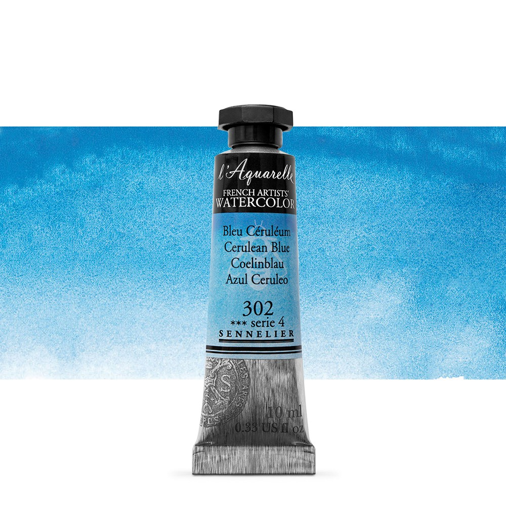 Sennelier : Watercolour Paint : 10ml : Cerulean Blue