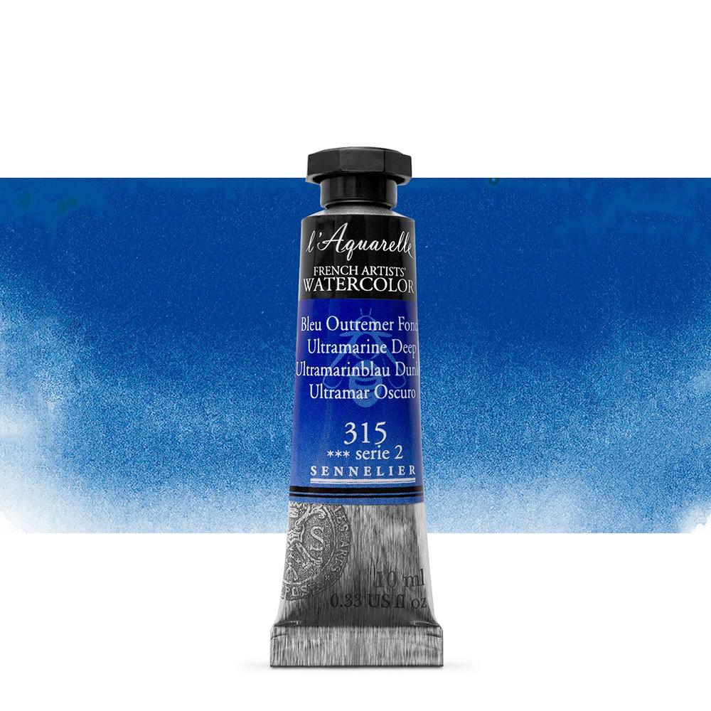 Sennelier : Watercolour Paint : 10ml : Ultramarine Deep