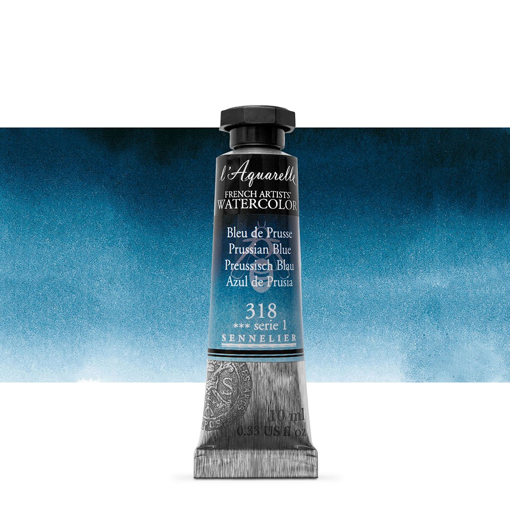 Sennelier : Watercolour Paint : 10ml : Prussian Blue