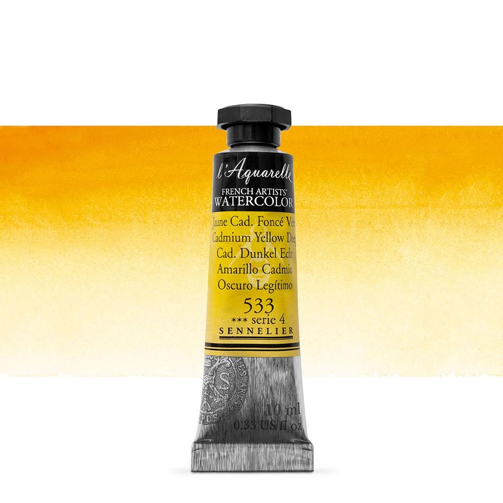 Sennelier : Watercolour Paint : 10ml : Cadmium Yellow Deep