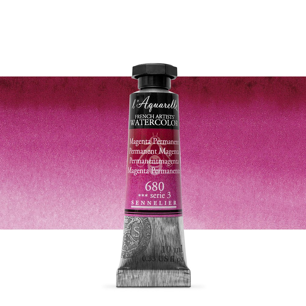 Sennelier : Watercolour Paint : 10ml : Magenta Permanent