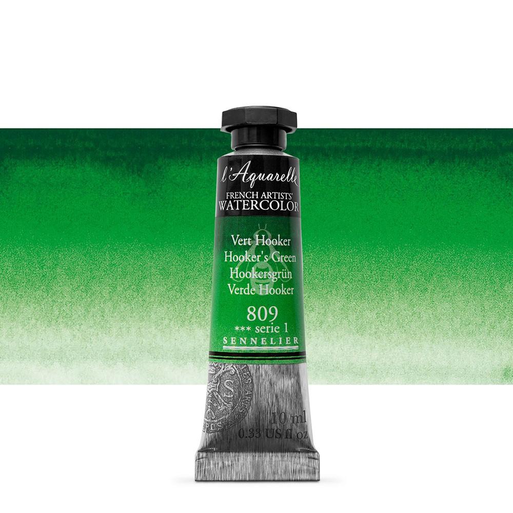 Sennelier : Watercolour Paint : 10ml : Hooker's Green