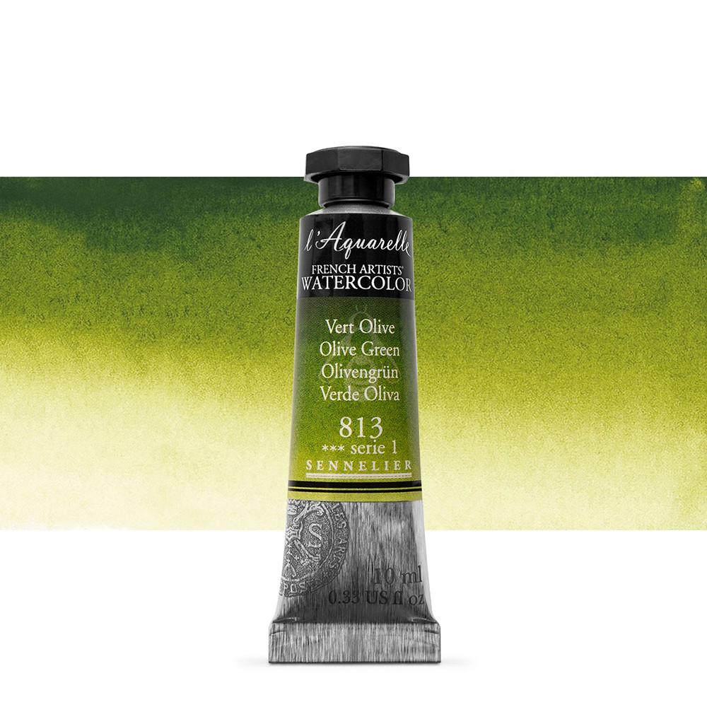Sennelier : Watercolour Paint : 10ml : Olive Green