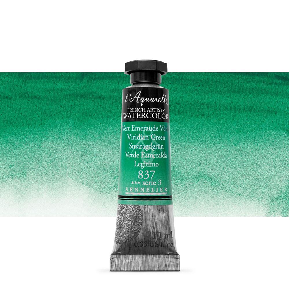 Sennelier : Watercolour Paint : 10ml : Viridian Green