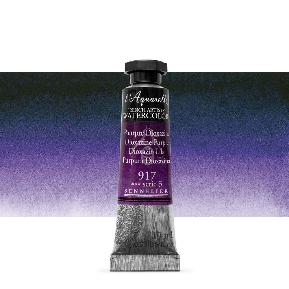 Sennelier : Watercolour Paint : 10ml : Dioxazine Purple