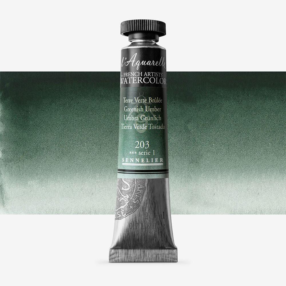 Sennelier : Watercolour Paint : 21ml : Greenish Umber