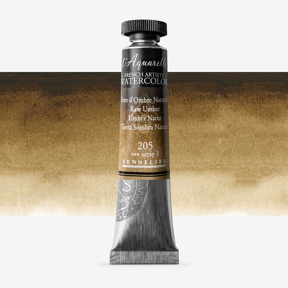 Sennelier : Watercolour Paint : 21ml : Raw Umber