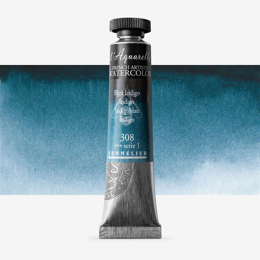 Sennelier : Watercolour Paint : 21ml :Indigo