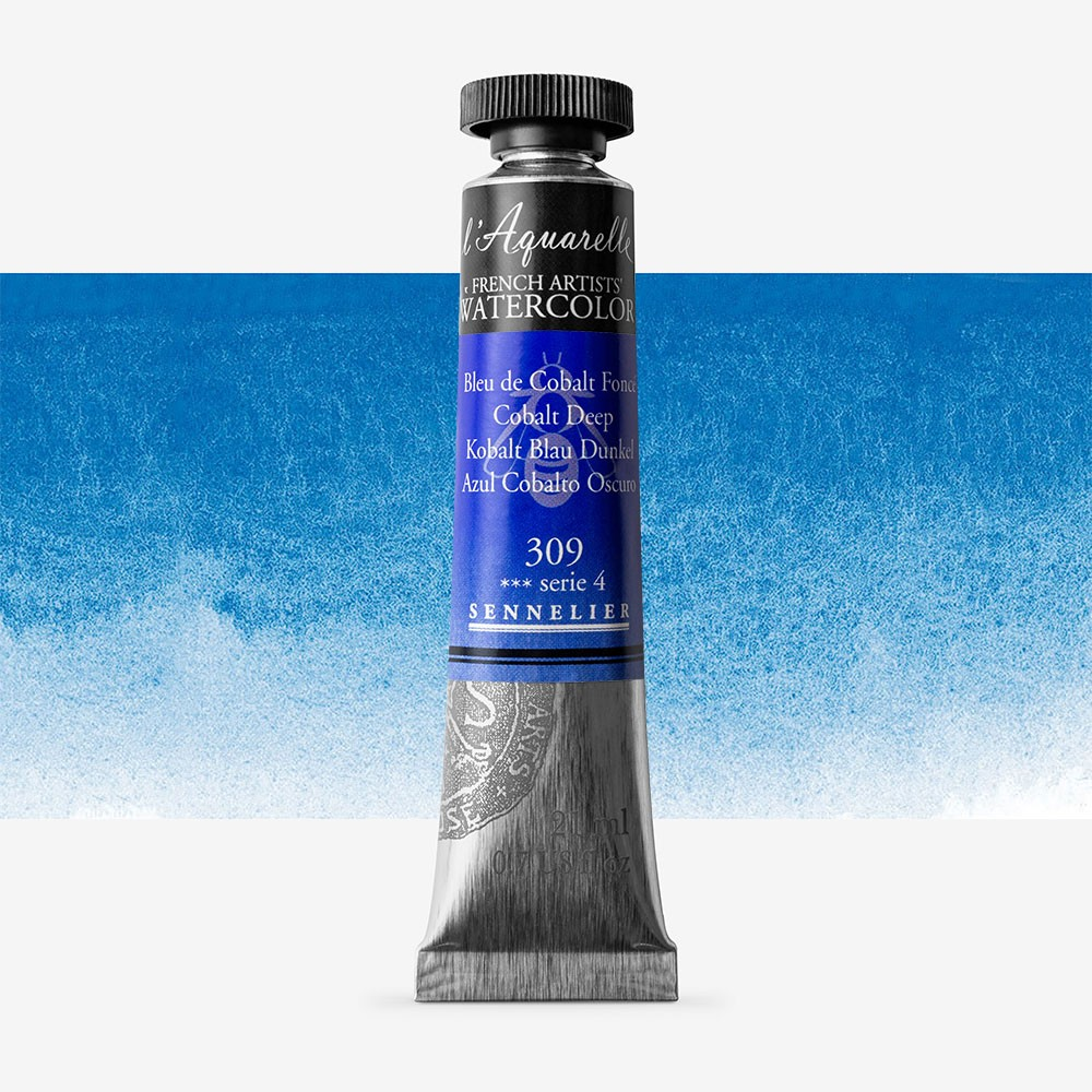 Sennelier : Watercolour Paint : 21ml : Cobalt Deep