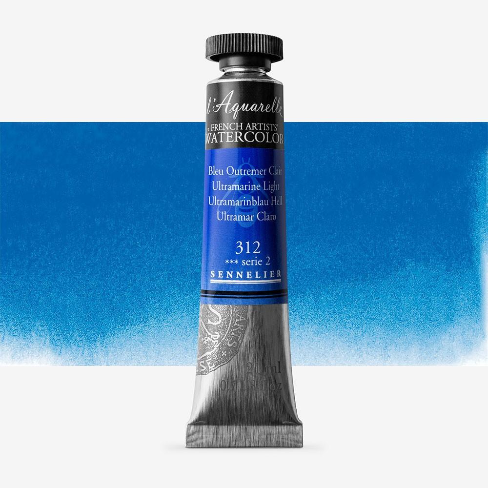 Sennelier : Watercolour Paint : 21ml : Ultramarine Light