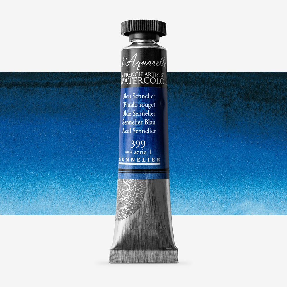 Sennelier : Watercolour Paint : 21ml : Blue Sennelier
