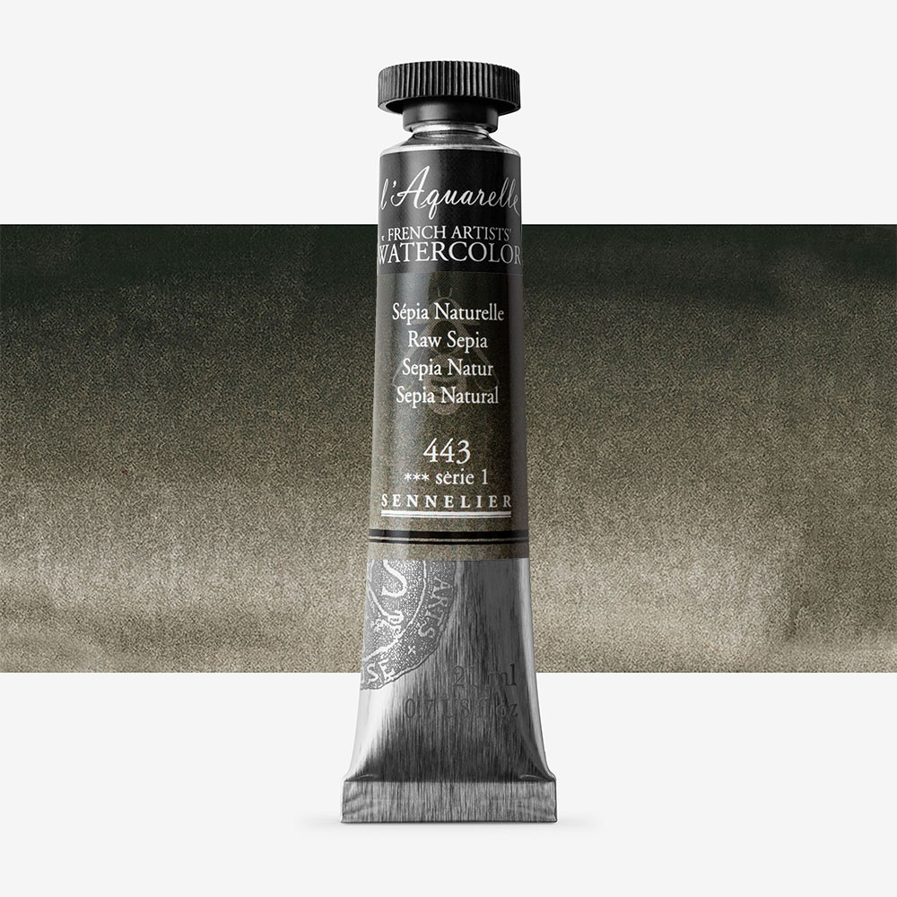 Sennelier : Watercolour Paint : 21ml : Raw Sepia