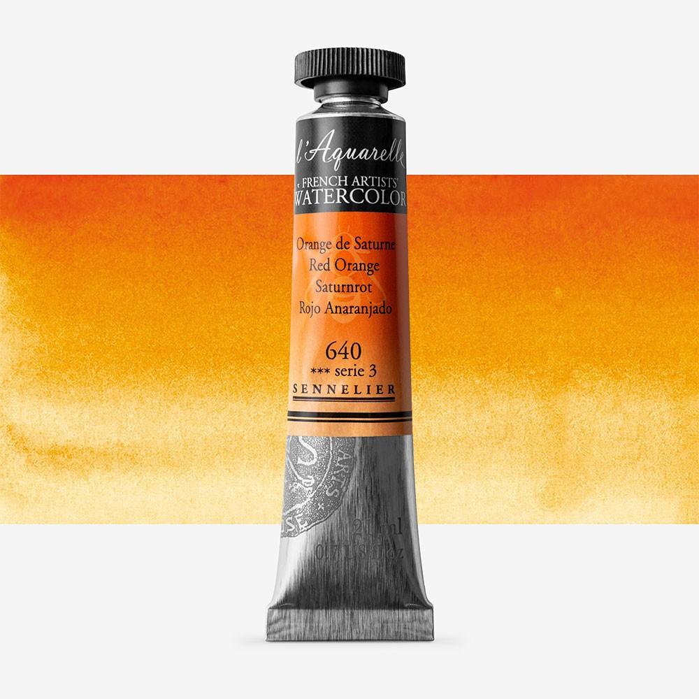 Sennelier : Watercolour Paint : 21ml : Red Orange