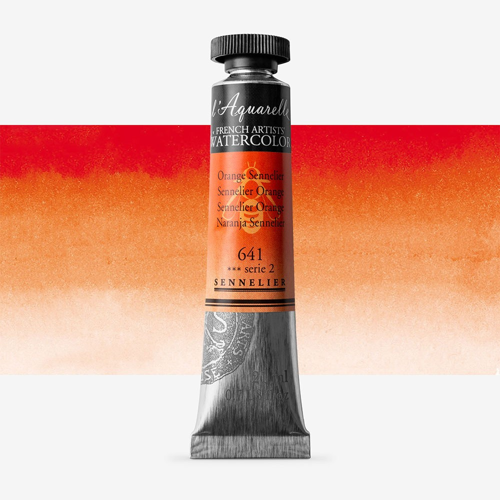 Sennelier : Watercolour Paint : 21ml : Sennelier Orange