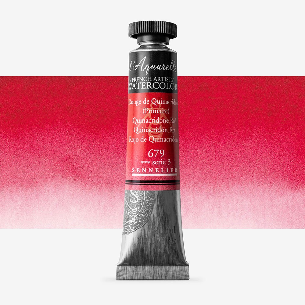 Sennelier : Watercolour Paint : 21ml : Quinacridone Red