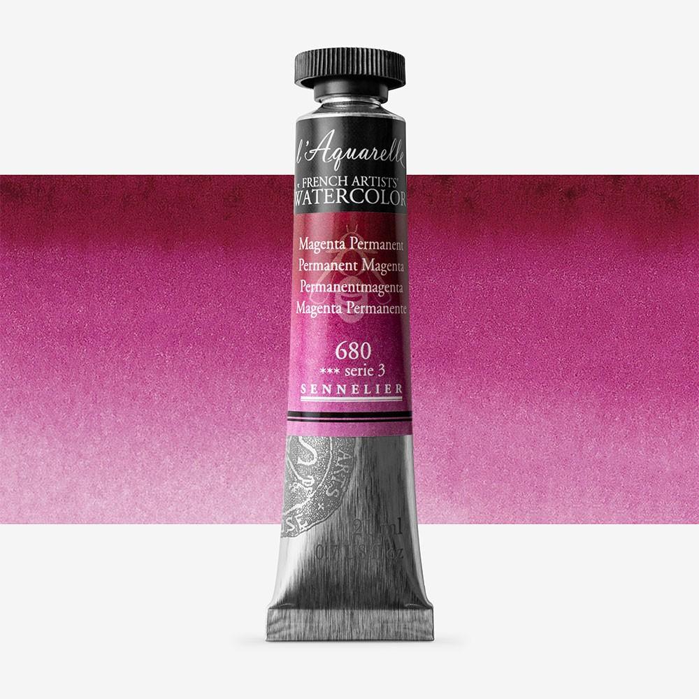Sennelier : Watercolour Paint : 21ml : Magenta Permanent
