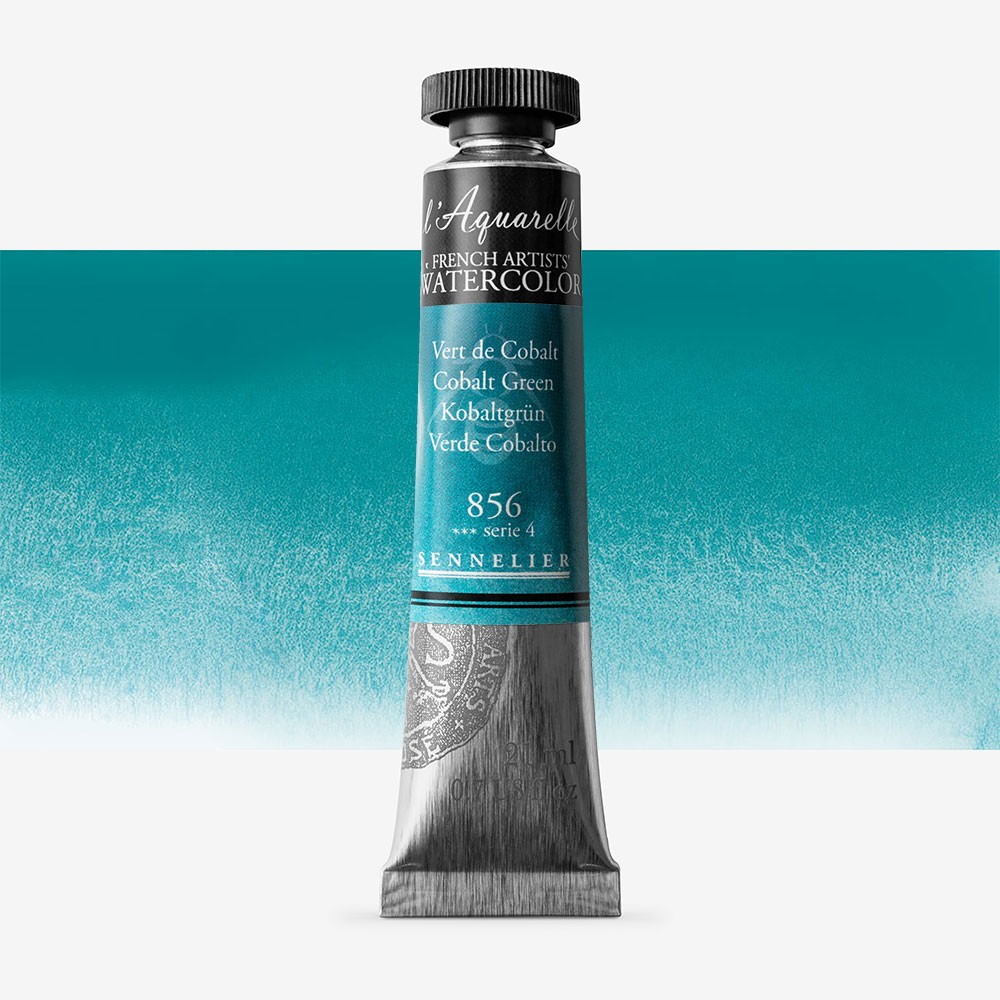 Sennelier : Watercolour Paint : 21ml : Cobalt Green