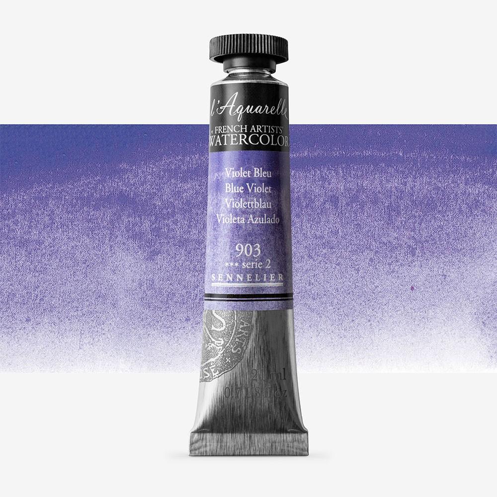 Sennelier : Watercolour Paint : 21ml : Blue Violet