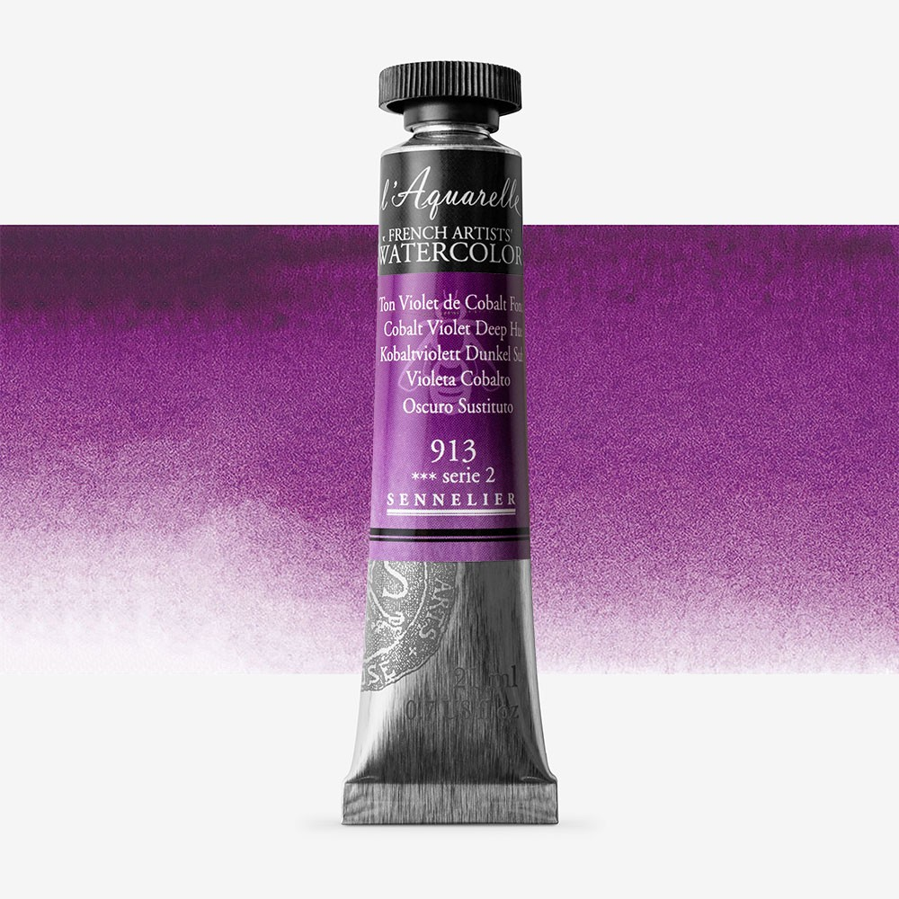 Sennelier : Watercolour Paint : 21ml : Cobalt Violet Deep Hue