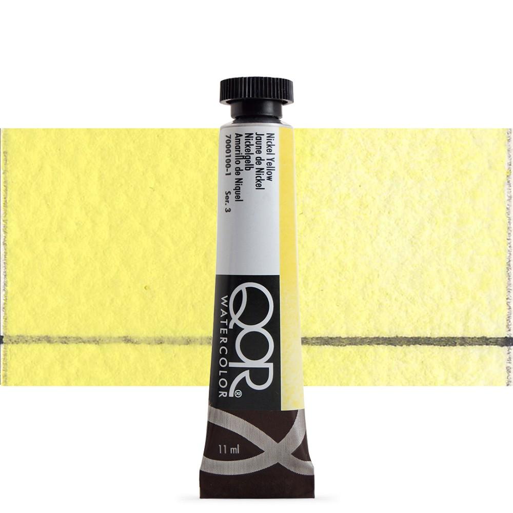 Golden QoR : Watercolour Paint : 11ml : Nickel Yellow