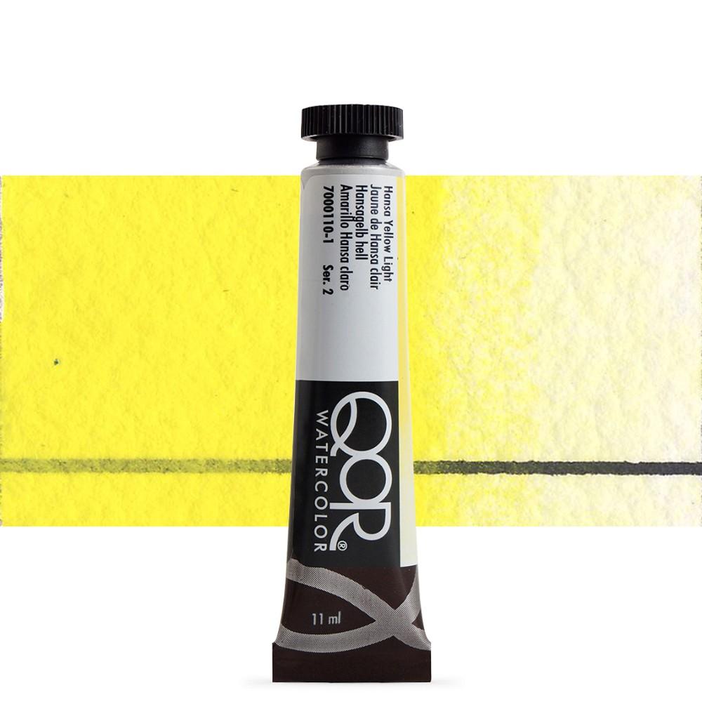 Golden QoR : Watercolour Paint : 11ml : Hansa Yellow Light