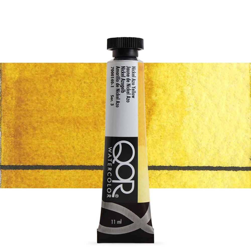 Golden QoR : Watercolour Paint : 11ml : Nickel Azo Yellow