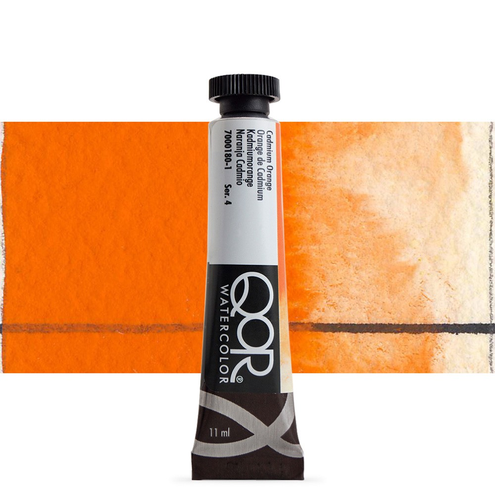 Golden QoR : Watercolour Paint : 11ml : Cadmium Orange