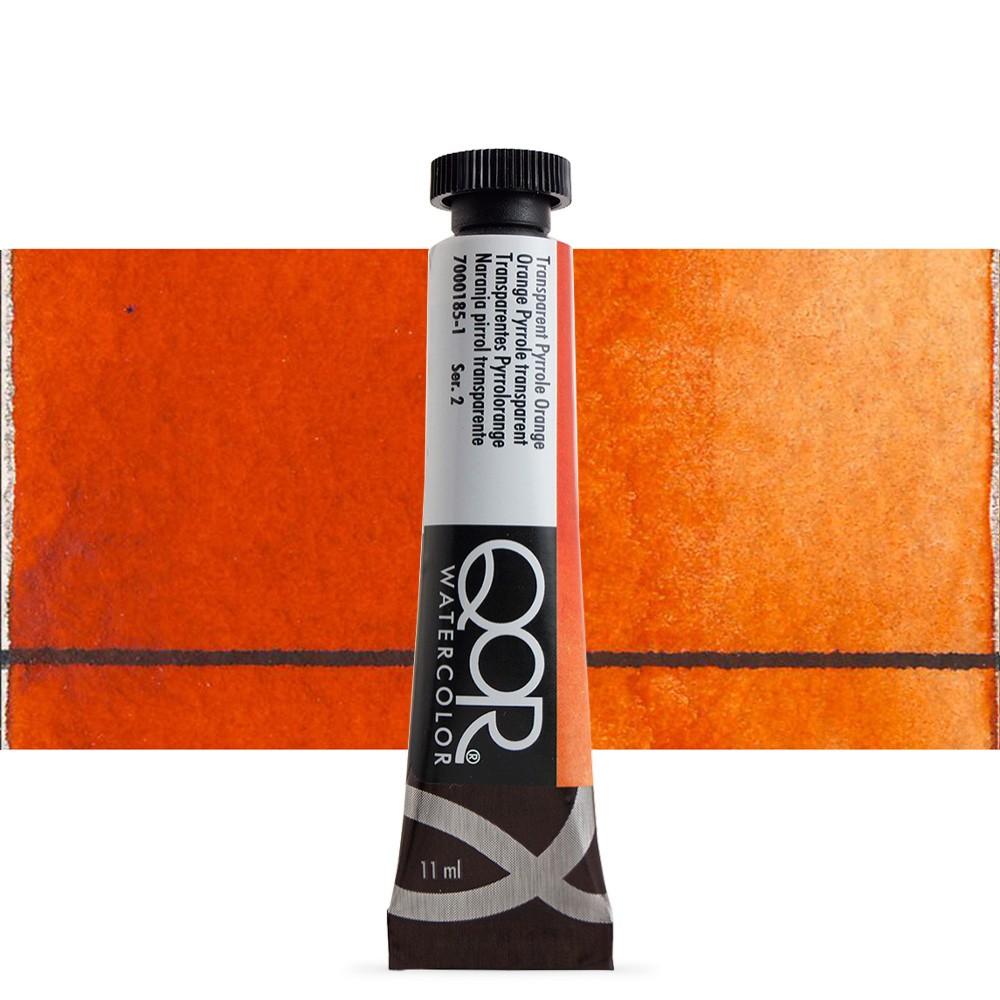 Golden QoR : Watercolour Paint : 11ml : Transparent Pyrrole Orange