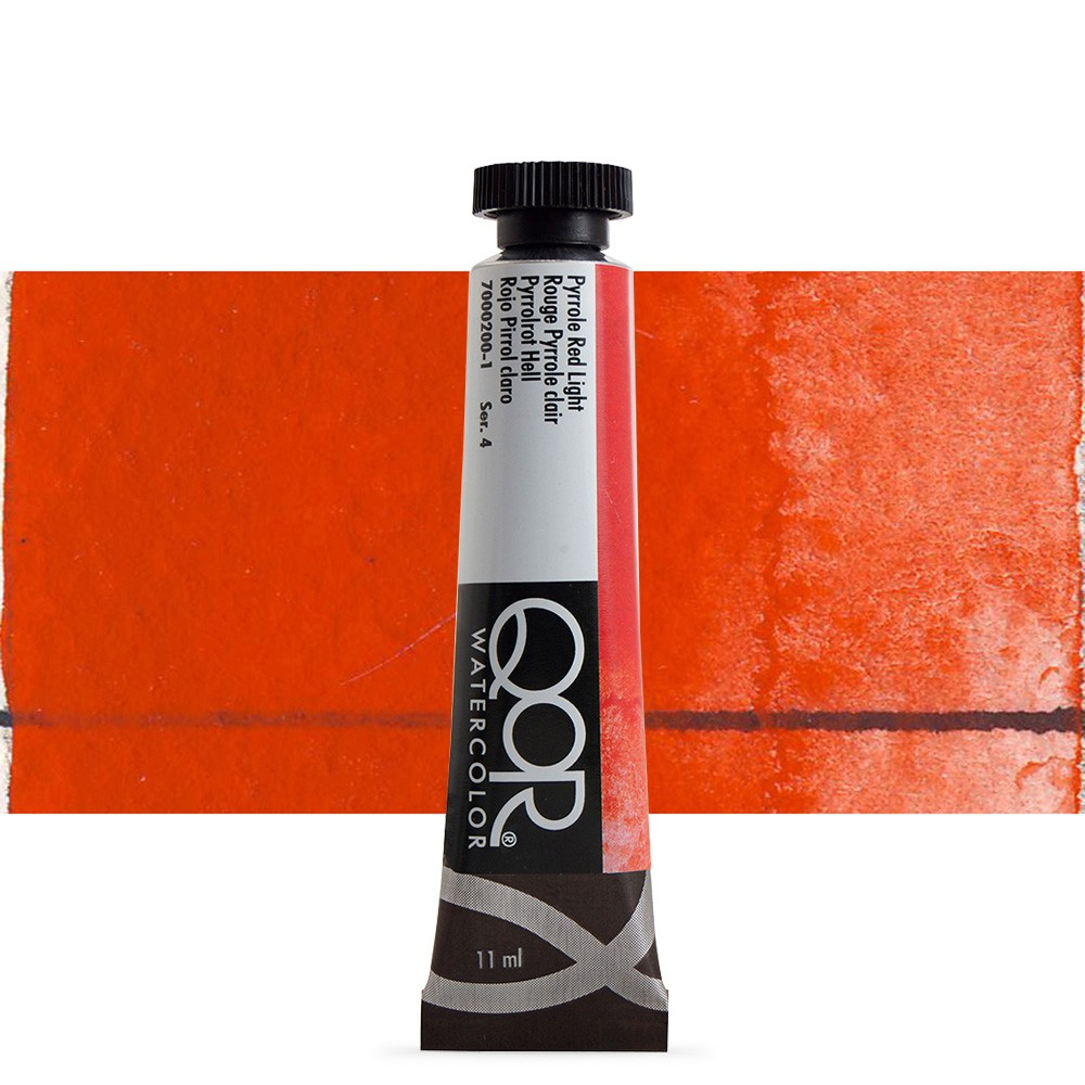Golden QoR : Watercolour Paint : 11ml : Pyrrole Red Light