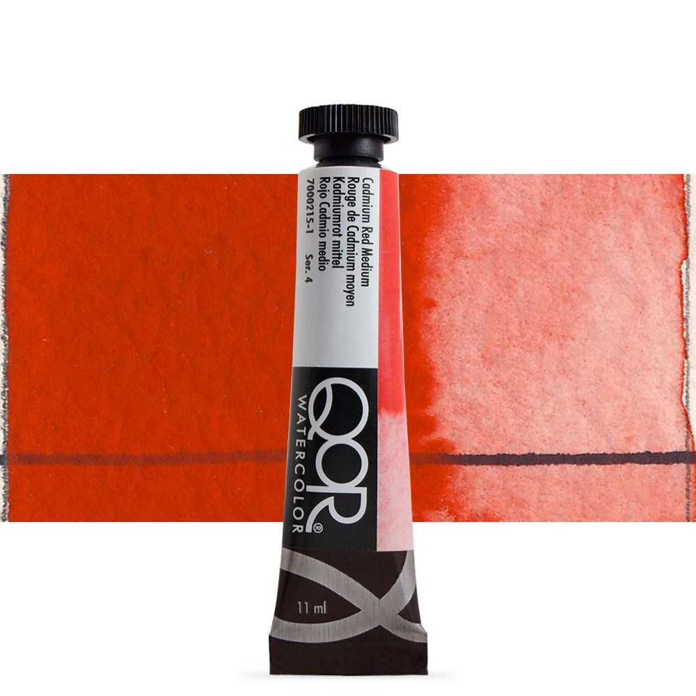 Golden QoR : Watercolour Paint : 11ml : Cadmium Red Medium