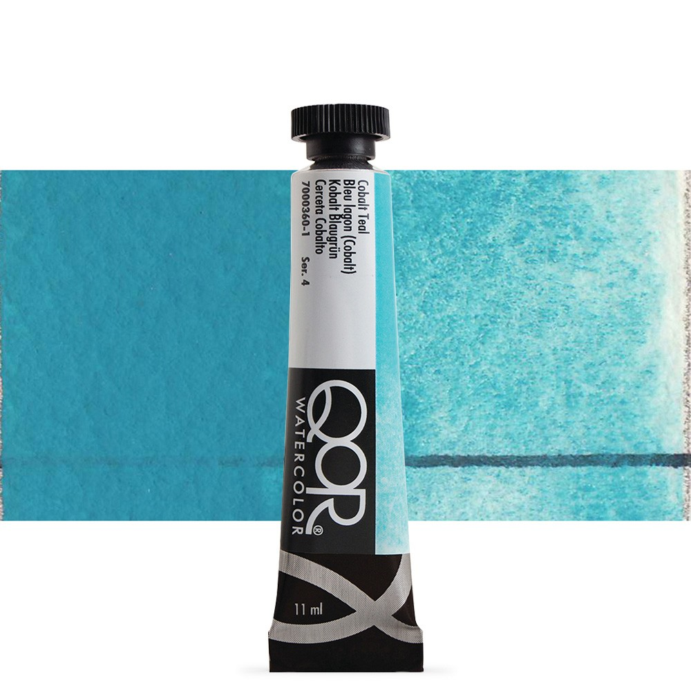 Golden QoR : Watercolour Paint : 11ml : Cobalt Teal