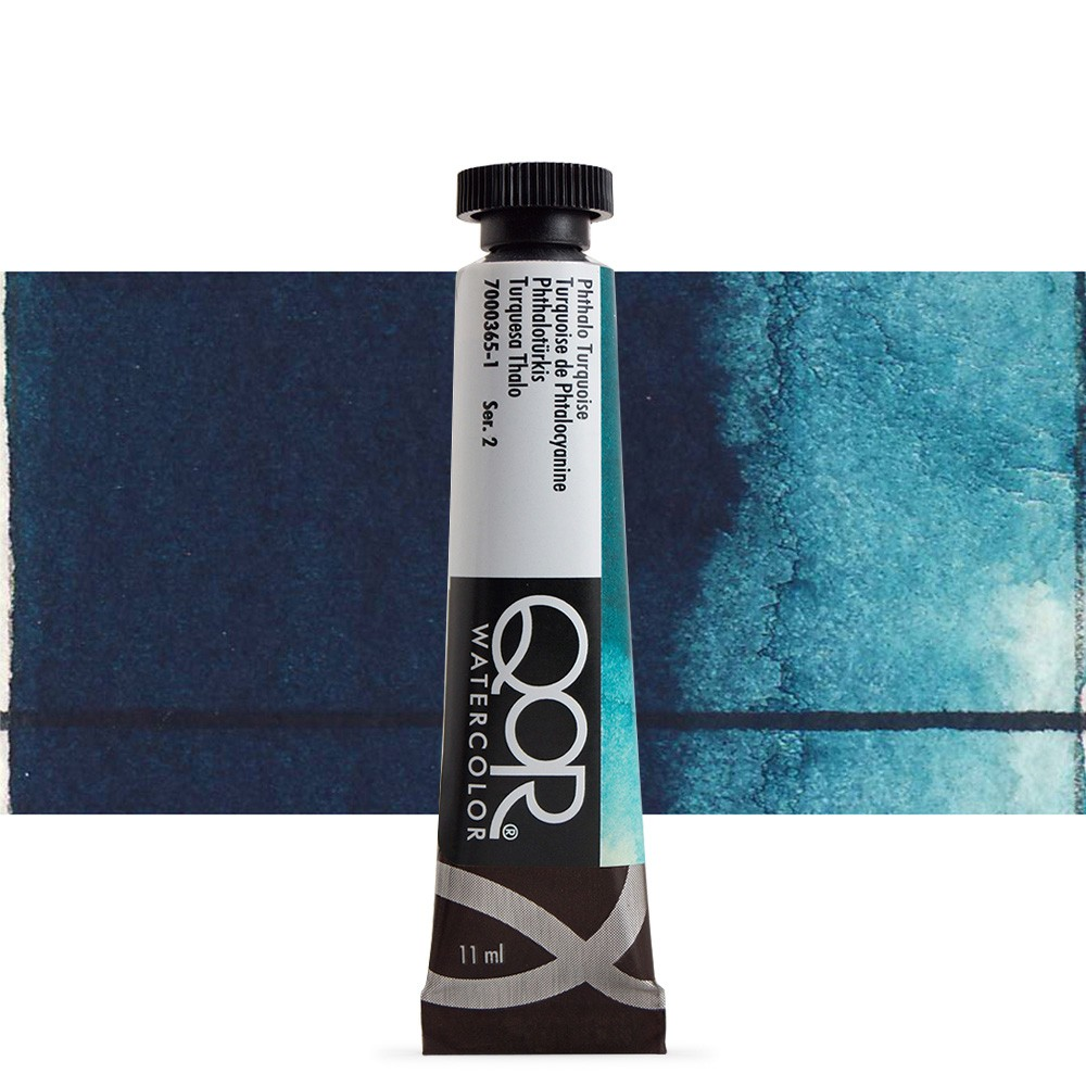 Golden QoR : Watercolour Paint : 11ml : Phthalo Turquois