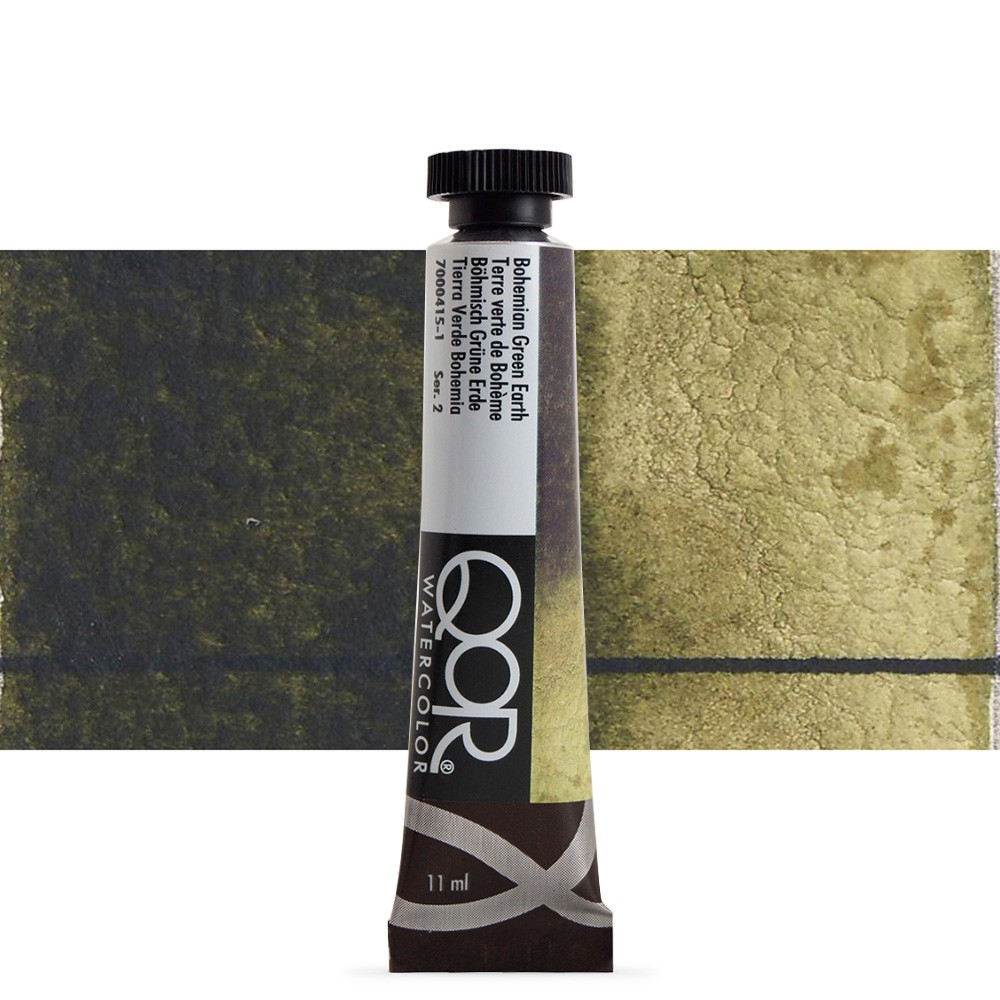 Golden QoR : Watercolour Paint : 11ml : Bohemian Green Earth