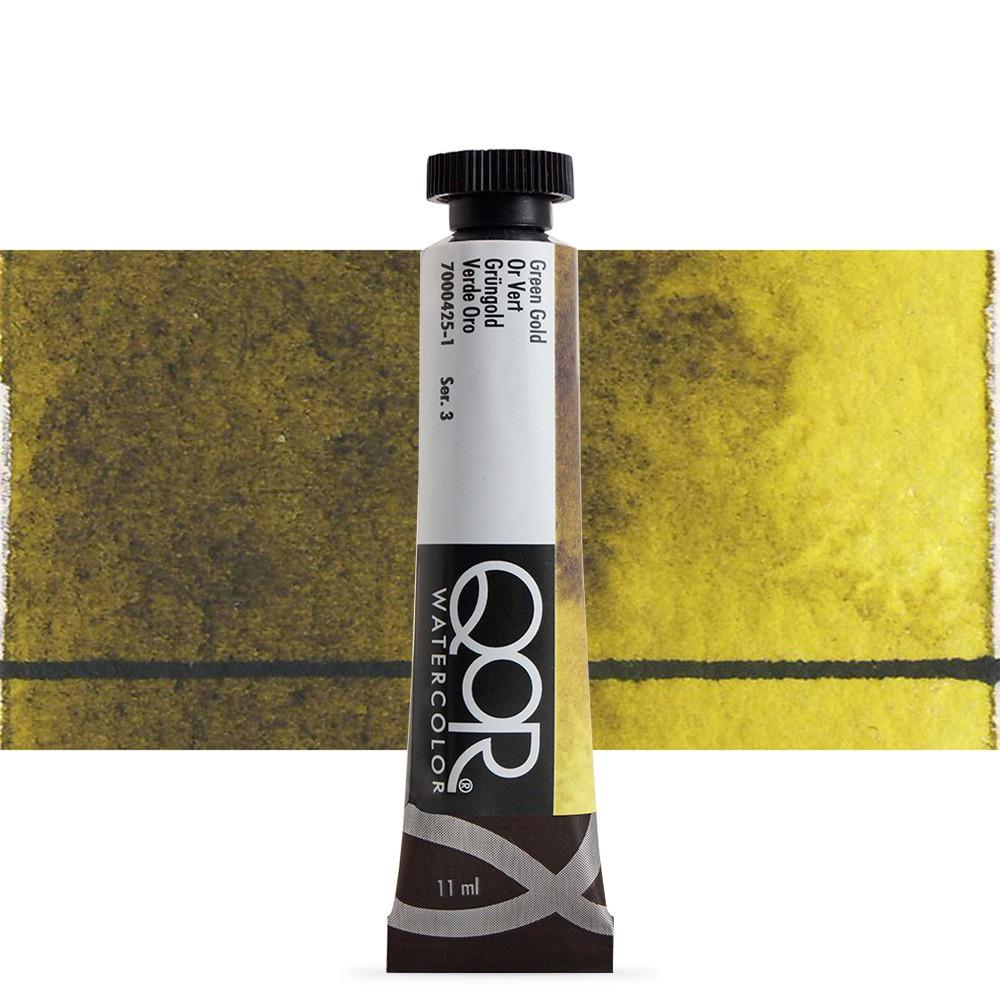 Golden QoR : Watercolour Paint : 11ml : Green Gold