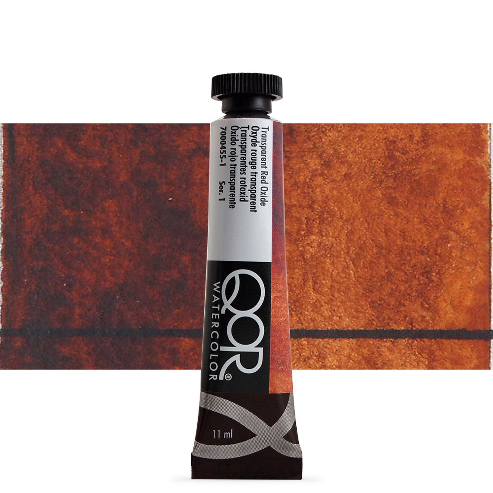 Golden QoR : Watercolour Paint : 11ml : Transparent Red Oxide