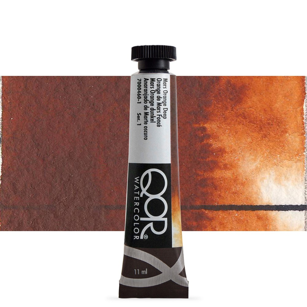 Golden QoR : Watercolour Paint : 11ml : Mars Orange Deep