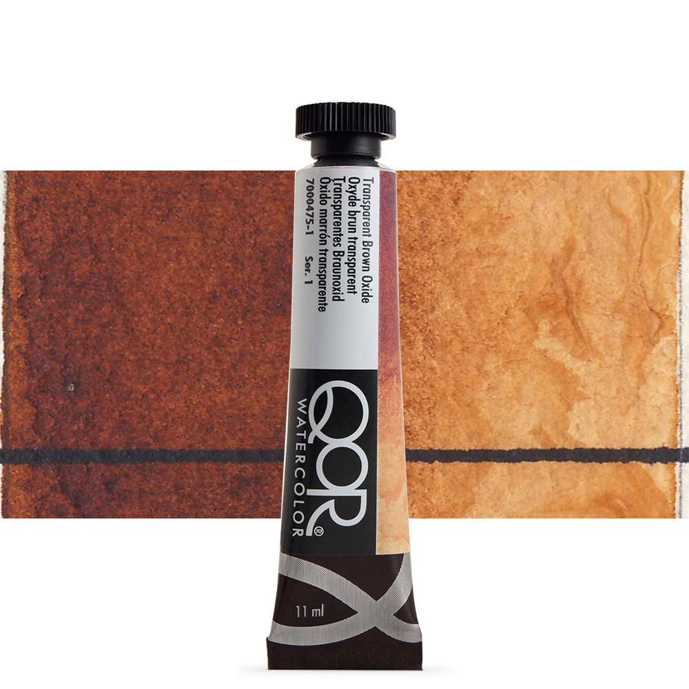Golden QoR : Watercolour Paint : 11ml : Transparent Brown Oxide