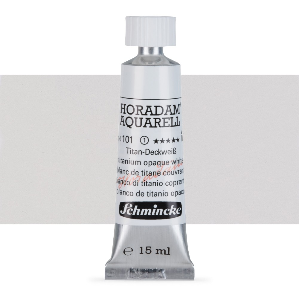 Schmincke : Horadam Watercolour Paint : 15ml : Titanium Opaque White