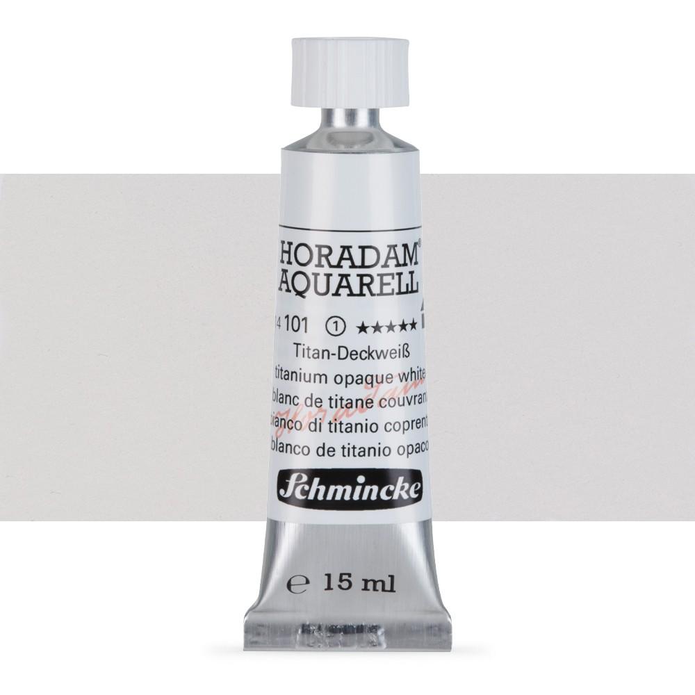 Schmincke : Horadam Watercolour Paint : 15ml : Titanium Opaque White