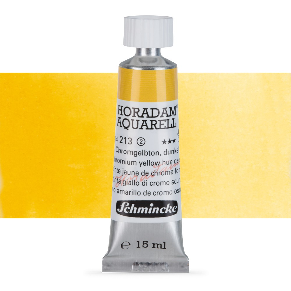 Schmincke : Horadam Watercolour : 15ml : Chromium Yellow Hue Deep (Chrome Yellow Deep)