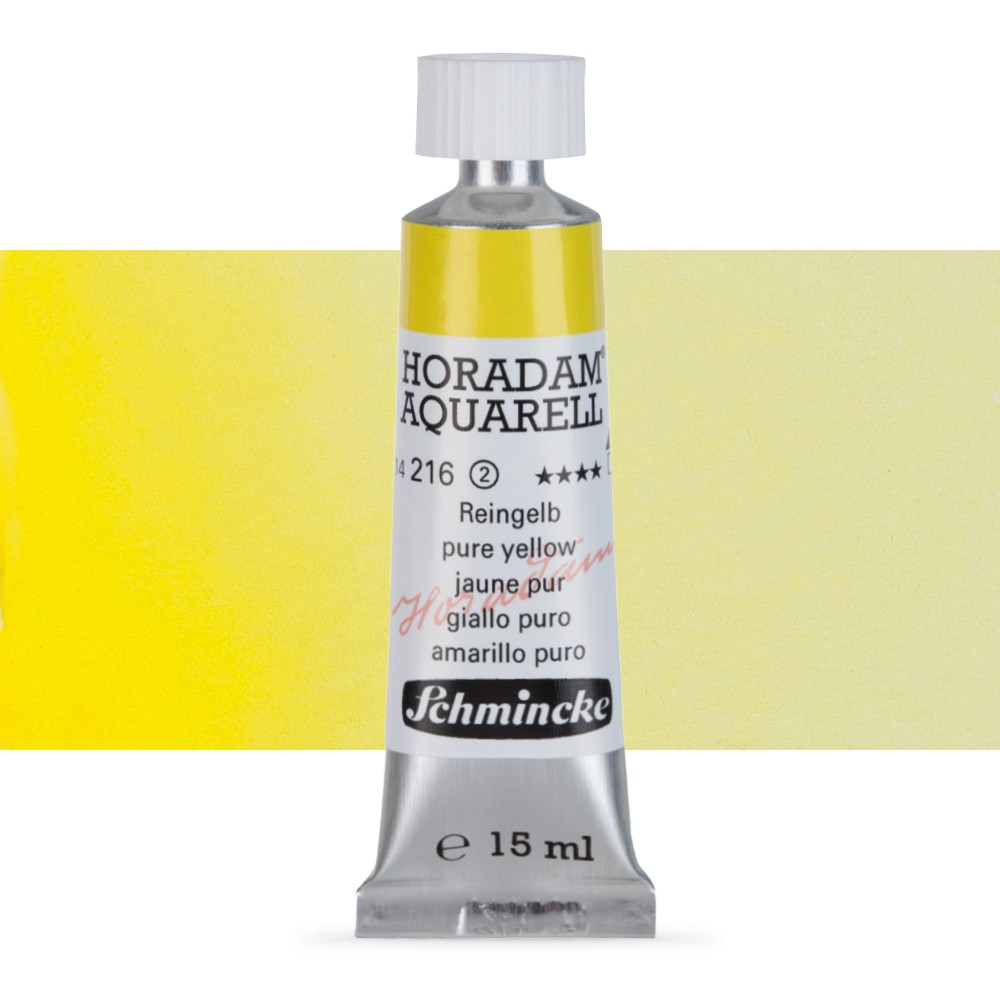 Schmincke : Horadam Watercolour Paint : 15ml : Pure Yellow