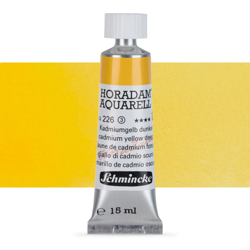 Schmincke : Horadam Watercolour Paint : 15ml : Cadmium Yellow Deep