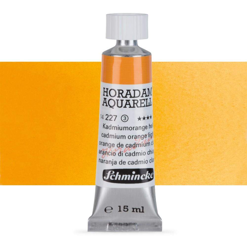 Schmincke : Horadam Watercolour Paint : 15ml : Cadmium Orange Light