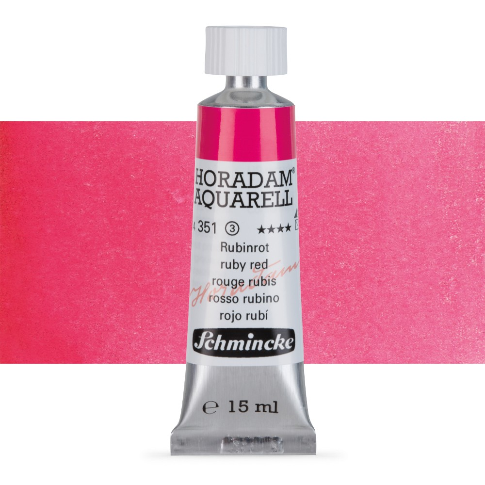 Schmincke : Horadam Watercolour Paint : 15ml : Ruby Red